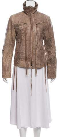 Ann Demeulemeester Distressed Leather Jacket w/ Tags