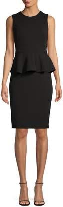 Calvin Klein Sleeveless Peplum Dress