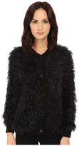 Love Moschino Furry Cardigan Sweater