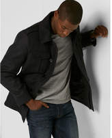 Express recycled wool four pocket water-resistant military coat