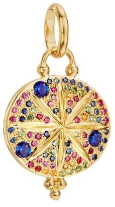 Temple St. Clair Celestial Multicolor Sapphire & 18K Yellow Gold Sorcerer Pendant