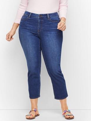 Talbots Plus Size Straight Leg Crop Jeans - Curvy Fit - Varick Wash