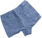 CENG MAU Swim Tummy Control High Waisted Bathing Bikini Boy Short Bottom Separates (S)