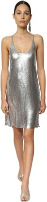 Paco Rabanne Metal Mesh Mini Dress W/ Slits
