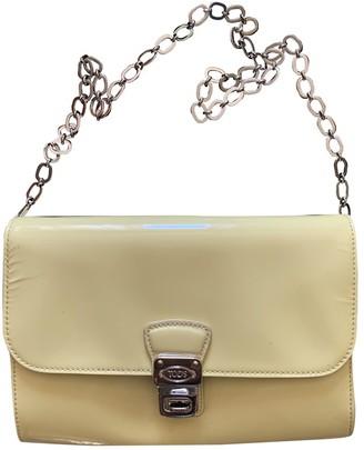 Tod's Yellow Patent leather Handbags