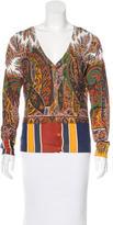 Etro Paisley Print Silk Cardigan