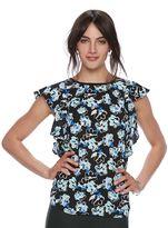 Elle Women's ELLETM Print Flutter Top