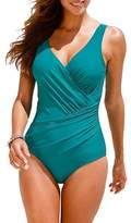 GWELL Womens Plus Size One Piece Swimsuit Swimwear Monokini
