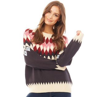 Only Womens Arielle Long Sleeve Knit Jumper Multi