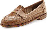 Sesto Meucci Nattie Woven Leather Loafer, Camel