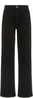 Gold Sign Kelvin Comfort Stretch High-Rise Boot-Cut Jeans