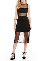 Gianni Bini Stacy Bandeau Mesh Dress