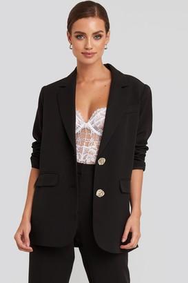 NA-KD Raw Edge Lace Cup Bodysuit Black