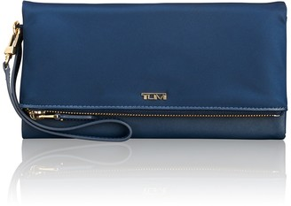 Tumi Foldover Leather Trimmed Nylon Travel Wallet