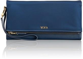 Tumi Foldover Leather Trimmed Nylon Travel Wallet