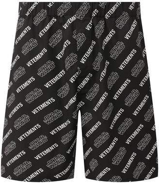 Vetements x star wars logo print shorts