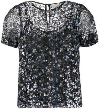 MICHAEL Michael Kors sheer sequined blouse