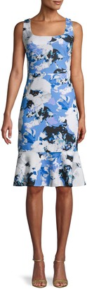 Karl Lagerfeld Paris Floral Sheath Dress