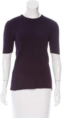 The Row Short Sleeve Rib Knit Sweater