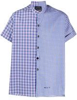 Paul & Shark short sleeved contrast check shirt