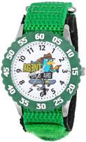 Disney Kids' W000372 Agent P Stainless Steel Time Teacher Green Bezel Green Nylon Strap Watch
