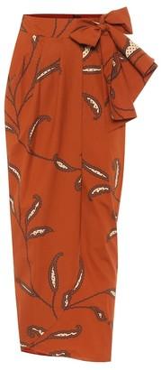Johanna Ortiz Eco Warrior cotton-poplin wrap skirt