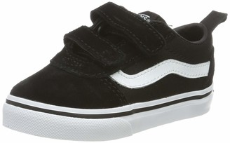 Vans Baby Ward V-Velcro Sneakers (Suede/Canvas) Black/White Iju 6 (22.5 EU)
