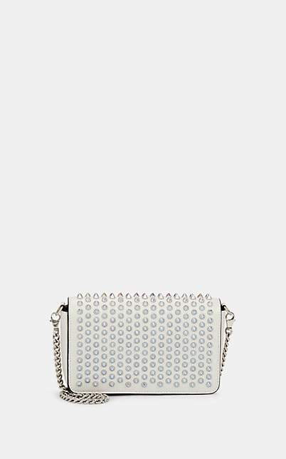 717766187be Women's Zoom Leather Chain Clutch - White