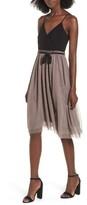 Leith Women's Mixed Media Midi Dress