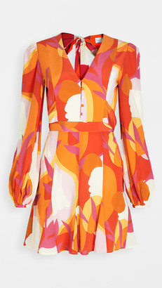 Rebecca Vallance Paradise Long Sleeve Mini Dress