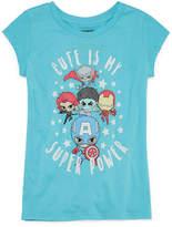 Marvel Super Heros 'Cute' T-Shirt- Girls' 7-16