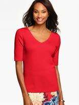 Talbots Double-V Sweater Topper