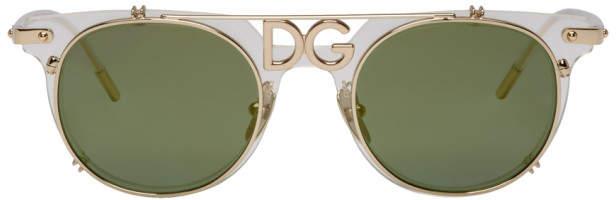 Dolce & Gabbana Gold Logo Sunglasses