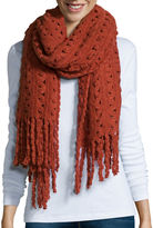 MIXIT TREND Mixit Zig Zag Oblong Scarf with Fringe