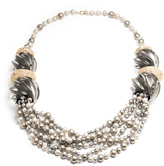 Alexis Bittar Sculptural Multi-Strand Pearl Necklace