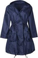 QZUnique Women's Packable Waterproof Rain Jacket Outdoor Poncho Raincoat with Hood