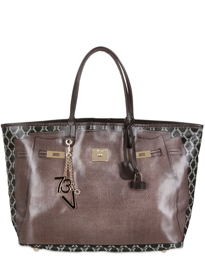 The City Printed Cotton Small Tote