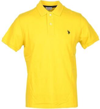 U.S. Polo Assn. Sun Yellow Pique Cotton Men's Polo Shirt