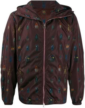 Alexander McQueen insects print bomber jacket