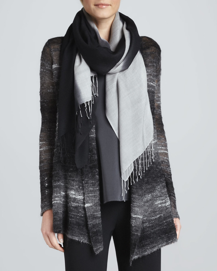 Eileen Fisher Ombre Silk-Blend Scarf