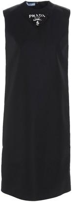 Prada Logo Printed Sleeveless Dress