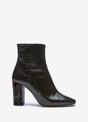 Mint Velvet Lyla Black Patent Heeled Boots