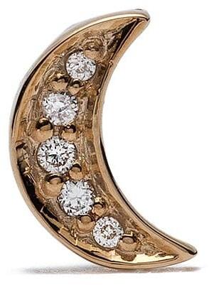 Feidt Paris 18kt yellow gold Bo Lune diamond stud