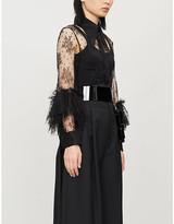 Therese ruffled silk lace shirt