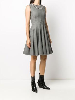 Ermanno Scervino Embellished Neck Swing Dress