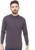 Brave Soul Mens Turtle Neck Jumper Dark Charcoal Marl