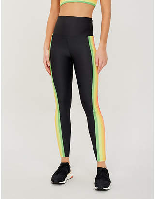 Beach Riot Jade high-rise striped stretch-jersey leggings