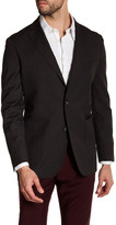 Zanetti Brown Pin Dot Two Button Notch Lapel Wool Modern Fit Sport Coat
