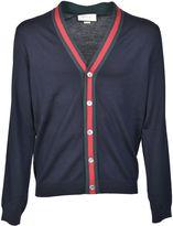 Gucci Web Trim Classic Cardigan