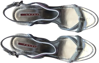 Prada Silver Cloth Sandals
